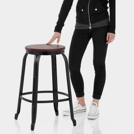 Amp Bar Stool Black Features Image