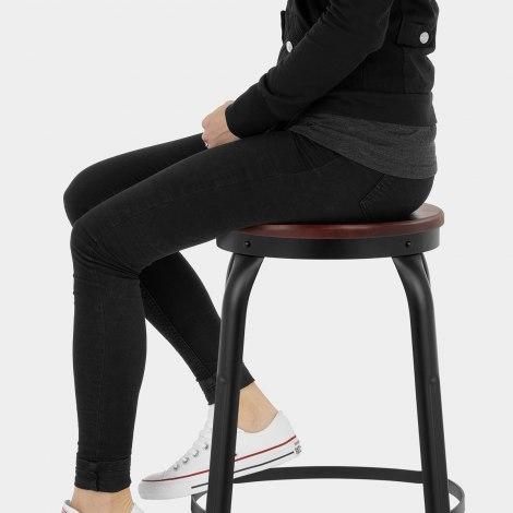 Amp Bar Stool Black Seat Image