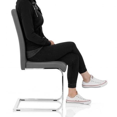 Anima Dining Chair Grey Seat Image