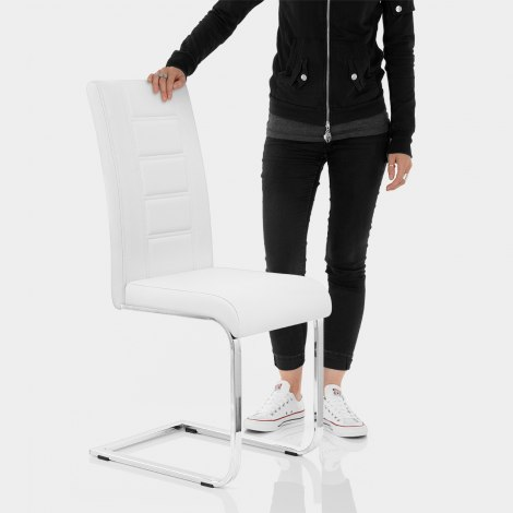 Anima Dining Chair White Features Image