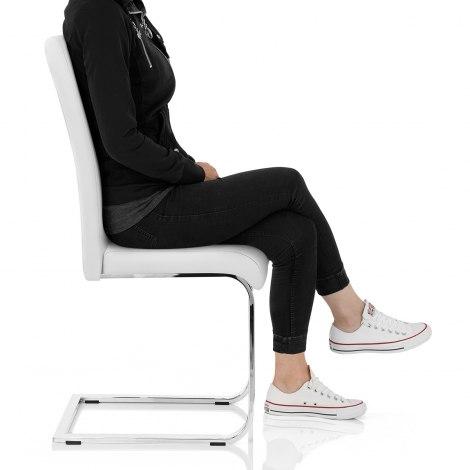 Anima Dining Chair White Seat Image