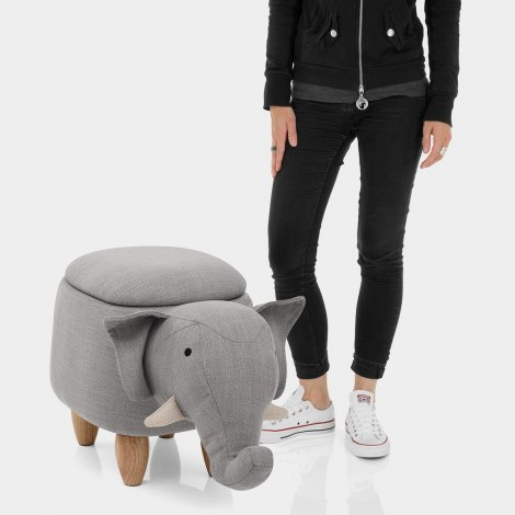 Elephant Children's Storage Stool Features Image