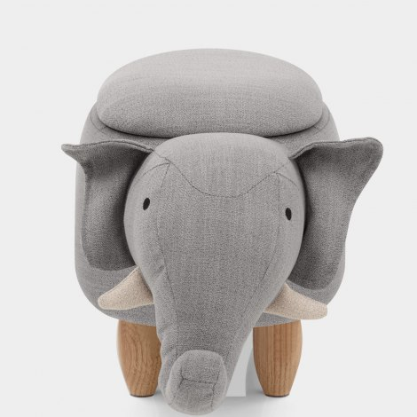 Elephant Children's Storage Stool Seat Image