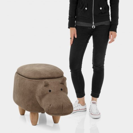 Hippo Children's Storage Stool Features Image