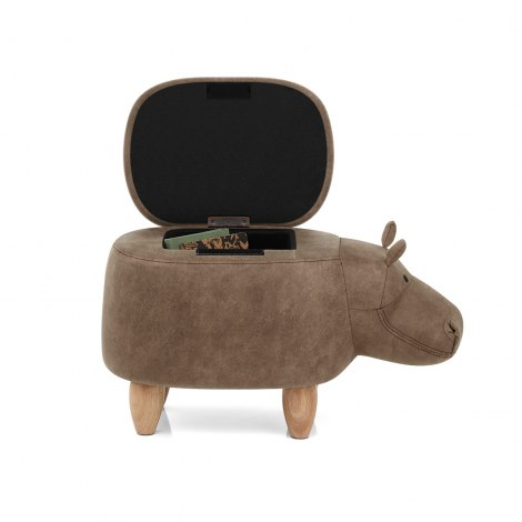 Hippo Children's Storage Stool Seat Image