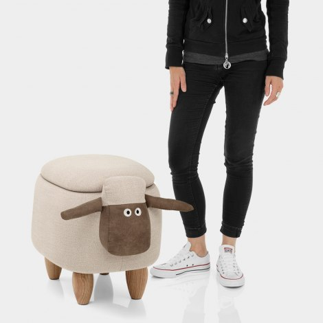 Sheep Children's Storage Stool Features Image
