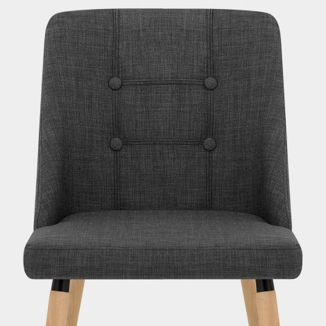 Appleby Dining Chair Charcoal Fabric Seat Image
