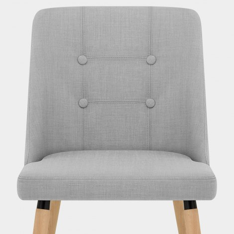 Appleby Dining Chair Light Grey Fabric Seat Image