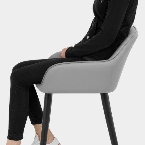 Apres Grande Stool Light Grey Seat Image