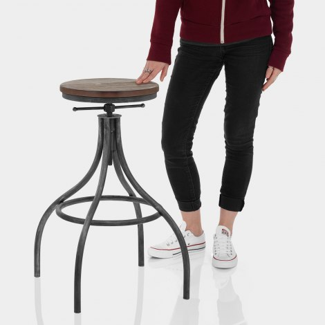 Arc Stool Gunmetal Features Image