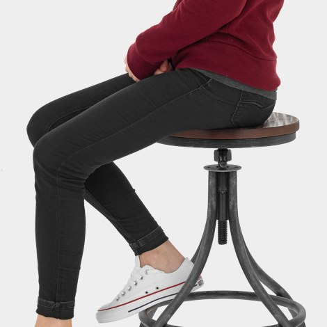 Arc Stool Gunmetal Seat Image