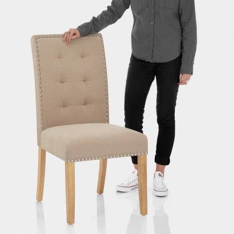 Arlington Dining Chair Beige Fabric Features Image