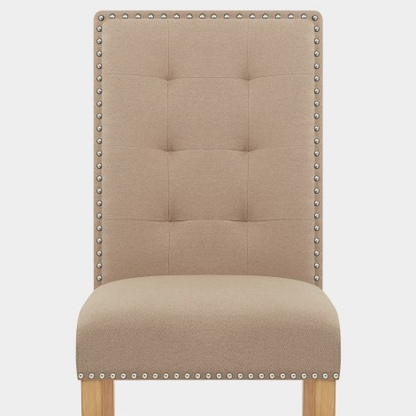 Arlington Dining Chair Beige Fabric Seat Image