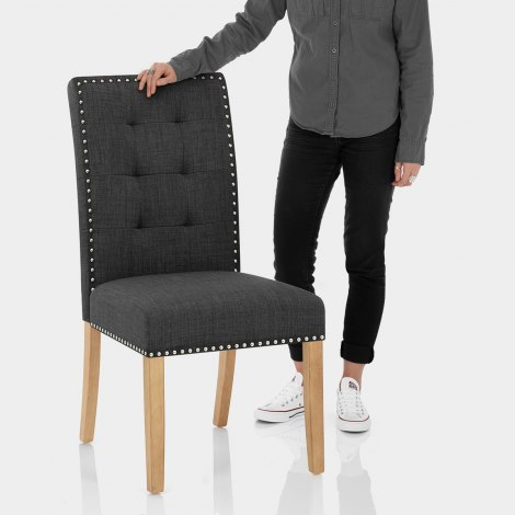 Arlington Dining Chair Charcoal Fabric Features Image