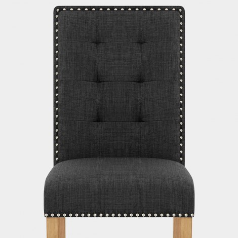 Arlington Dining Chair Charcoal Fabric Seat Image