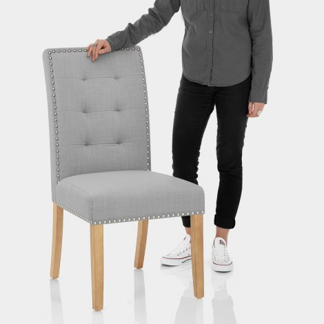 Arlington Dining Chair Grey Fabric Features Image