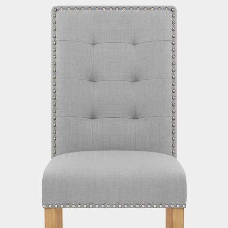 Arlington Dining Chair Grey Fabric Seat Image