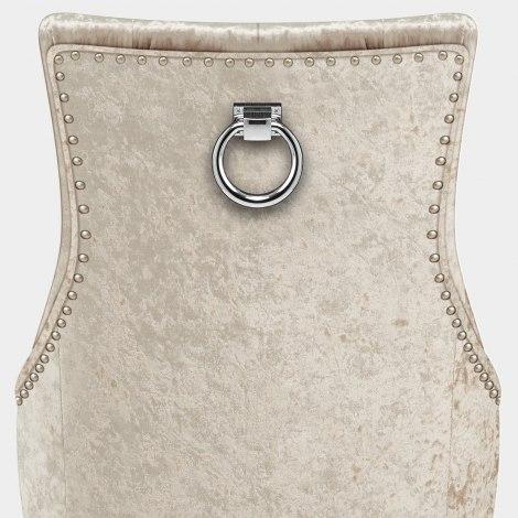Ascot Oak Dining Chair Beige Velvet Seat Image