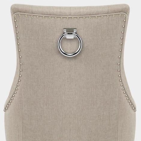 Ascot Oak Dining Chair Tweed Fabric Seat Image