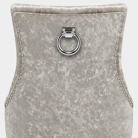Ascot Oak Dining Chair Mink Velvet Seat Image