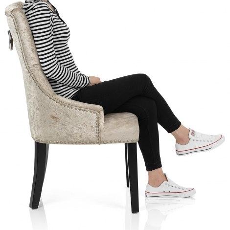 Ascot Dining Chair Beige Velvet Seat Image