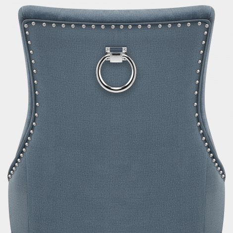 Ascot Dining Chair Blue Fabric Seat Image