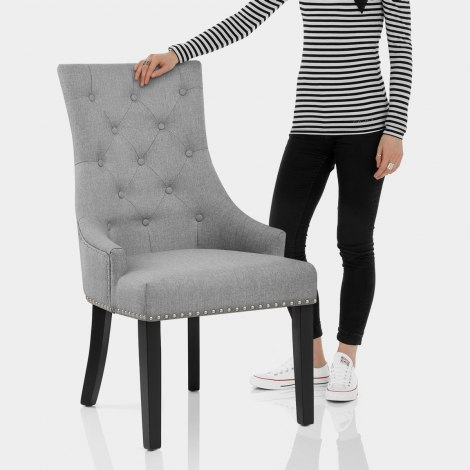 Ascot Dining Chair Grey Fabric Features Image