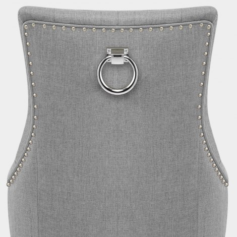 Ascot Dining Chair Grey Fabric Seat Image