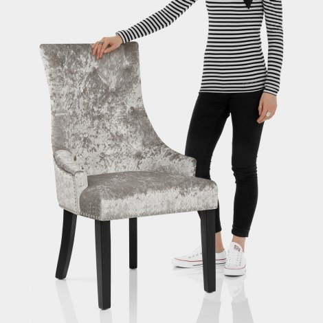 Ascot Dining Chair Mink Velvet Features Image