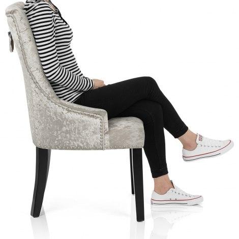Ascot Dining Chair Mink Velvet Seat Image