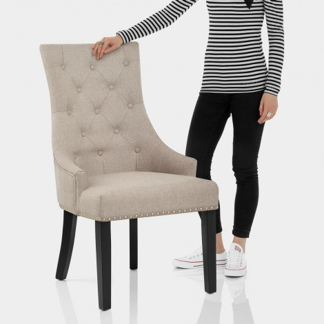Ascot Dining Chair Tweed Fabric Features Image