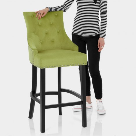 Ascot Bar Stool Green Fabric Features Image