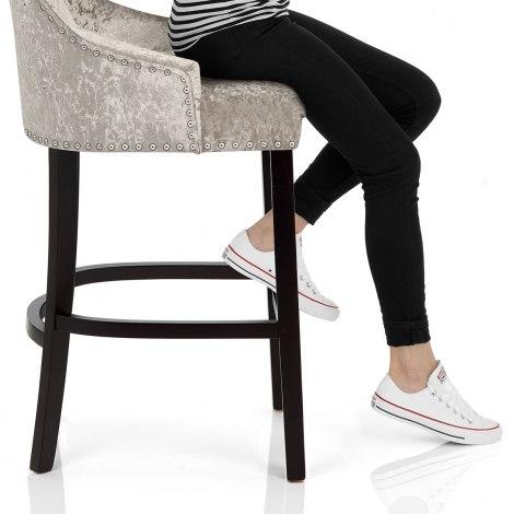 Ascot Bar Stool Mink Velvet Seat Image