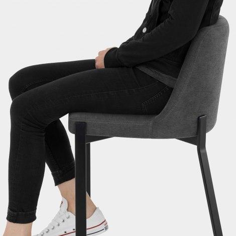 Aspen Bar Stool Charcoal Fabric Seat Image
