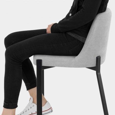 Aspen Bar Stool Grey Fabric Seat Image