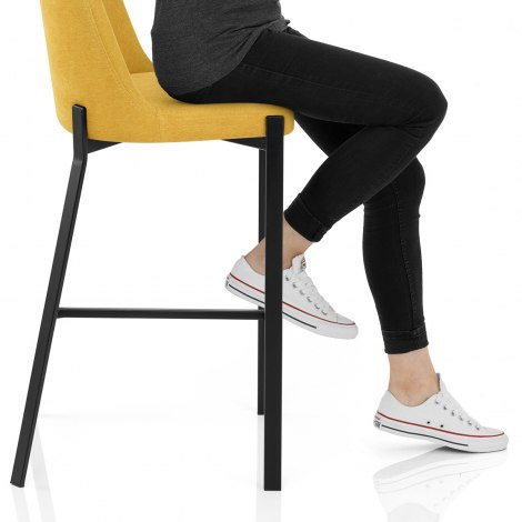 Aspen Bar Stool Yellow Fabric Frame Image