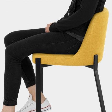 Aspen Bar Stool Yellow Fabric Seat Image