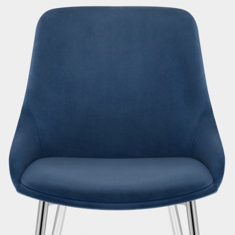 Aston Dining Chair Blue Velvet Seat Image