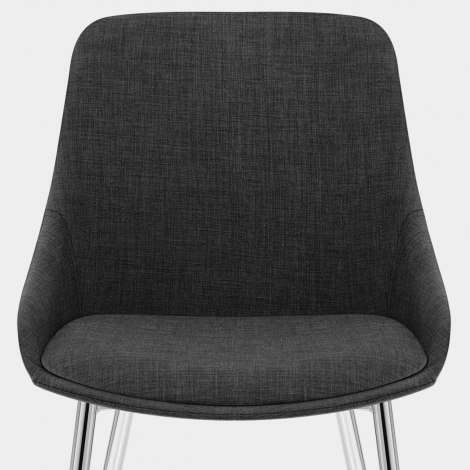 Aston Dining Chair Charcoal Fabric Seat Image