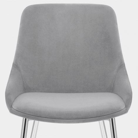 Aston Dining Chair Grey Velvet Seat Image