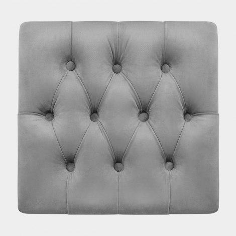 Astra Ottoman Grey Velvet Seat Image