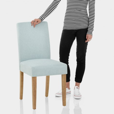 Austin Dining Chair Duck Egg Blue Features Image
