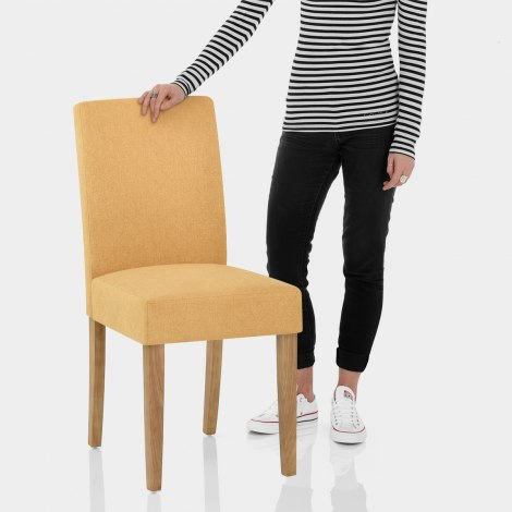 Austin Dining Chair Mustard Features Image