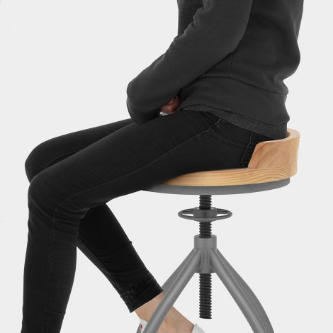 Axle Industrial Bar Stool Seat Image