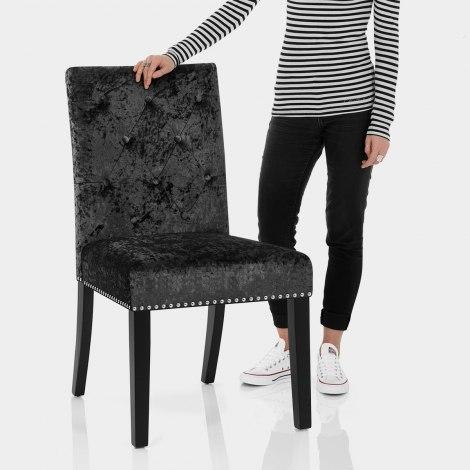 Barrington Dining Chair Black Velvet Features Image