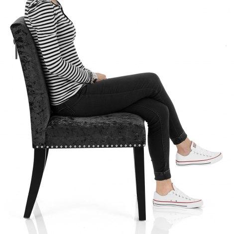 Barrington Dining Chair Black Velvet Seat Image