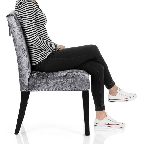 Barrington Dining Chair Grey Velvet Seat Image