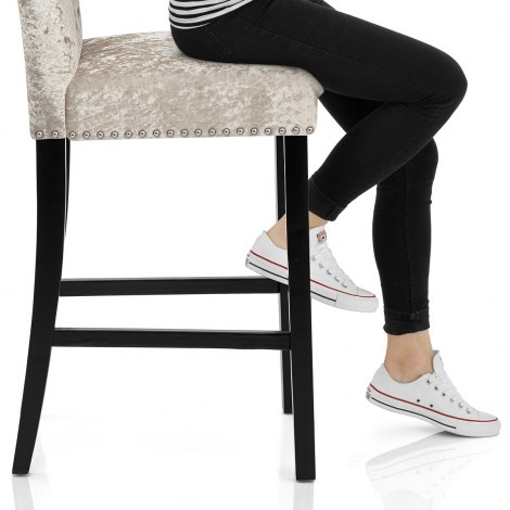 Barrington Bar Stool Beige Velvet Seat Image