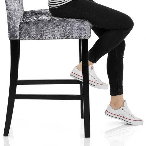 Barrington Bar Stool Grey Velvet Seat Image