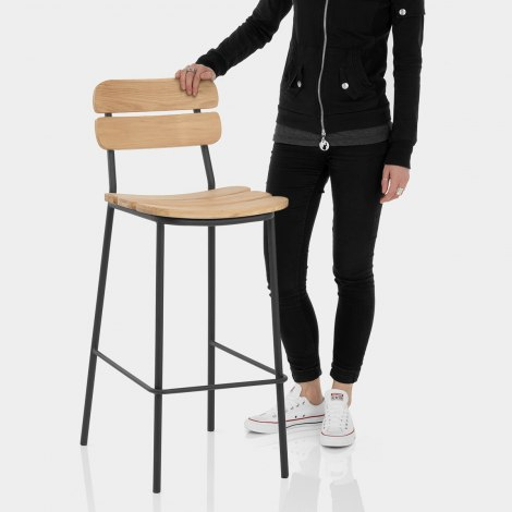 Bay Industrial Bar Stool Features Image